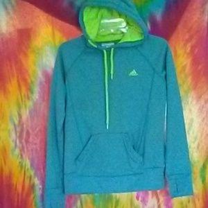 Women's hoodie bright neon green/teal
